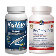 VisiVite AREDS2 Select and Nordic Naturals ProDHA 1000 Bundle - 1 month supply