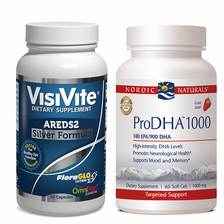 VisiVite AREDS2 Silver and Nordic Naturals ProDHA 1000 Bundle - 1 month supply