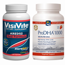 VisiVite AREDS2 Red/ProDHA-1000 Omega 3 Discount Bundle