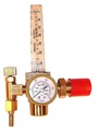 "HFR1425-580 Gas Regulator AR / Co2 Sight Glass Flow Meter CGA580 X 1/4"" Barb"