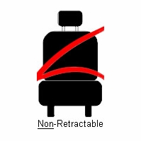 3 Point Non-Retractable Seat Belt Bucket or Bench