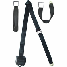 3 Point Retractable Seat Belt with Chrome Seatbelt Buckle