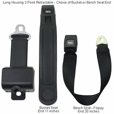 "8"" Long Housing Retractable Motorhome / RV Seat Belts"