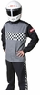 Classic black and white checkerboard Safequip/Racequip Race Suit