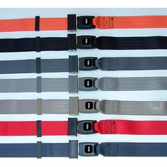 RV Seat Belts - Push Button Non-Retractable Lap Belt