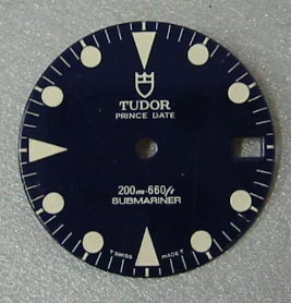 Genuine TUDOR Submariner dial - NOS