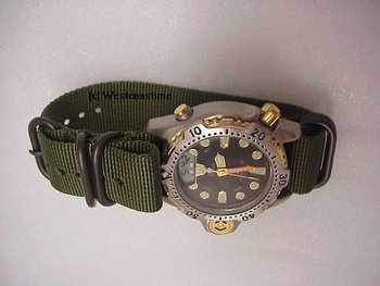 GREEN  OD  RHINO band in 20 and 22 mm 2 or 4 nato G10 ring set-up