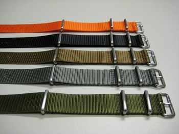 IN STOCK the newest Nato G-10 style band in stainless and Maratac material