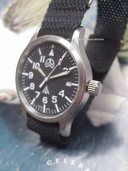 MP-2824 British Military style AUTOMATIC Pilot watch NOW SAPPHIRE
