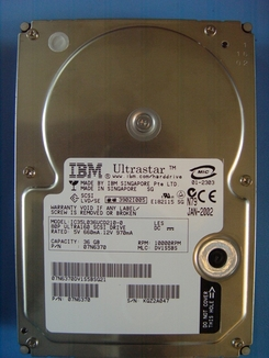 07N6370 IBM, Internal Hard Drive, 36GB