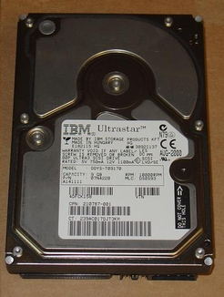 08K0382 IBM, Internal Hard Drive, 36GB