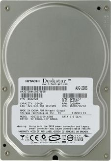 0Y30006 Hitachi DeskStar 7K160, Internal Hard Drive, 160GB