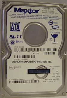 6L160M0 Maxtor Diamondmax, Internal Hard Drive, 160GB