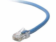 Belkin Components 6in Cat5e Patch Cable Utp Blue Pvc Jacket 24awg T568b 50 Micron Gold Plate