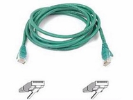 Belkinponents 15ft Cat6 Snagless Patch Cable Utp Green Pvc Jacket 23awg 50 Micron Gold Pl