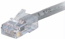 C2g 1ft Cat6 Non-booted Network Patch Cable (plenum-rated) - Gray