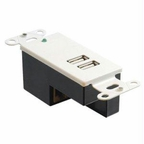 C2g 2-port Usb Superbooster Wallplate-receiv