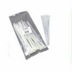 C2g 6in Releasable/reusable Cable Ties - White - 50pk