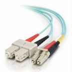 C2g C2g 2m Lc-sc 10gb 50/125 Om3 Duplex Multimode Fiber Optic Cable (taa Compliant)