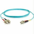 C2g C2g 3m Lc-sc 10gb 50/125 Om3 Duplex Multimode Fiber Optic Cable (taa Compliant)
