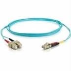 C2g C2g 5m Lc-sc 10gb 50/125 Om3 Duplex Multimode Fiber Optic Cable (taa Compliant)