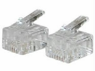 C2g Rj11 6x4 Modular Plug For Round Solid Cable - 25pk