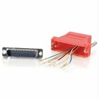 C2g Rj45 To Db25 Male Modular Adapter - Red