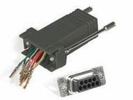 C2g Serial Adapter - Db-9 (m) - Rj-45 (f) - Black