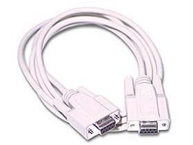 10 ft DB9F/DB9F Null Modem Cable Beige