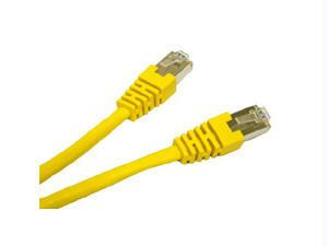 10ft CAT5e Shielded Patch Cable Yellow