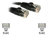 1ft CAT6 Patch Cbl Black