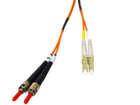 2m Multimode LC/ST Duplex Cable W/ Clips