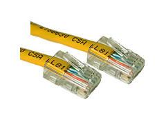5ft CAT5e Crossover Patch Cable Yellow