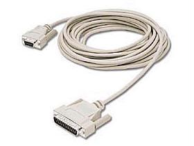 6 ft DB25M/DB9F Null Modem Cable Beige