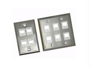 6-pt Wallplate Stainless