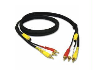 6ft 4-in-1 RCA/S-Video Cable Black