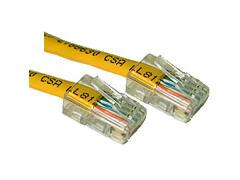 7ft CAT5e Crossover Patch Cable Yellow
