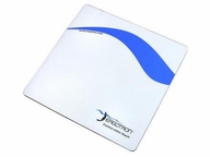 Ergotron Mouse Pad - White/blue And Logo;durable Lexan Surface