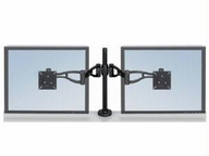 Fellowes Inc. Professional Series Depth Adjustable Dual Monitor Arm Features Two Monitor Arms