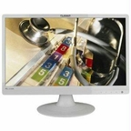 Planar Pll2210mw-wh 22 Inch White Wide Led With Analog Dvi-d Speakers Dc Power
