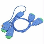 Siig Inc. 4-port Industrial Usb To Rs-422/485 Serial Adapter Cable With 3kv Isolation Prot