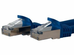 7 FT BLUE SHIELDED CAT6A PATCH CABLE