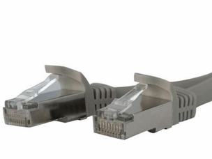 7 FT GRAY SHIELDED CAT6A PATCH CABLE