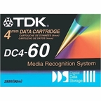 TDK DC4-60 -  4mm,  DDS-1 Data Cartridge, 60m, 1.3/2.6GB  (Out of Stock)