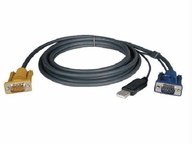 Tripp Lite 10-ft. Kvm Switch Usb (2-in-1) Cable Kit For B020- And B022-series Kvm Switches