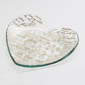 Annieglass 7 inch Sweet Nothings Heart Plate - Hearts