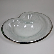 Annieglass Chip and Dip Bowl - Roman Antique