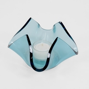 Annieglass Ultramarine Handkerchief - Votive Series