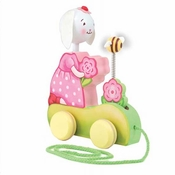 Bunnies By The Bay Blossom's Blooming Wooden Pull Toy - CS