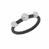 Charriol Celtic Noir 3 Station Diamond Ring